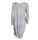 Matthildur Matthildur Stripe Pima Long Sleeve Dress - White