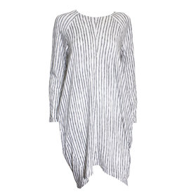 Matthildur Matthildur Stripe Pima Long Sleeve Dress - White