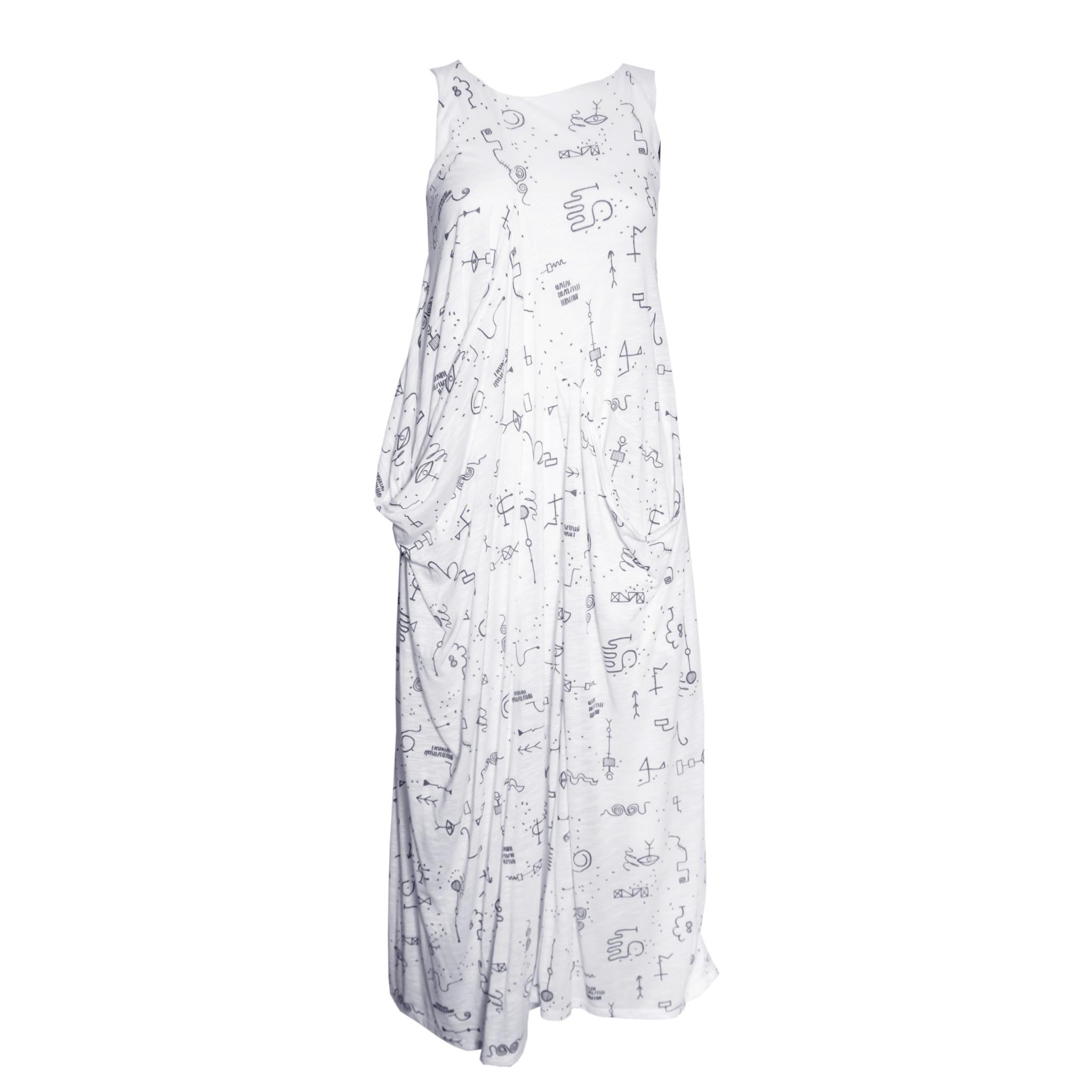 Matthildur Matthildur Flame Pocket Dress - Tattoo