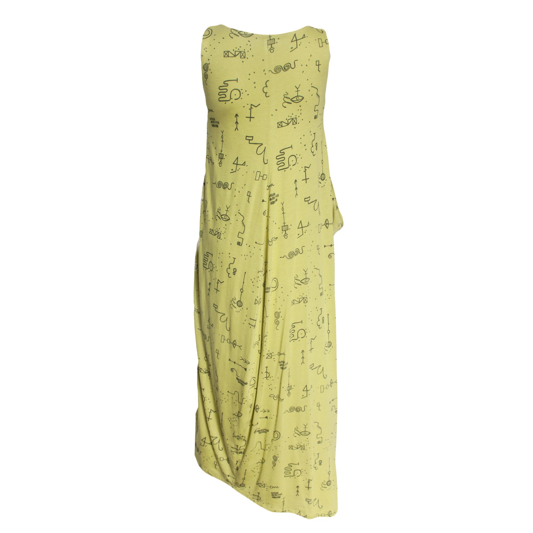 Matthildur Matthildur Flame Pocket Dress - Lime Print