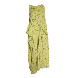 Matthildur Matthildur Flame Pocket Dress - Lime Print