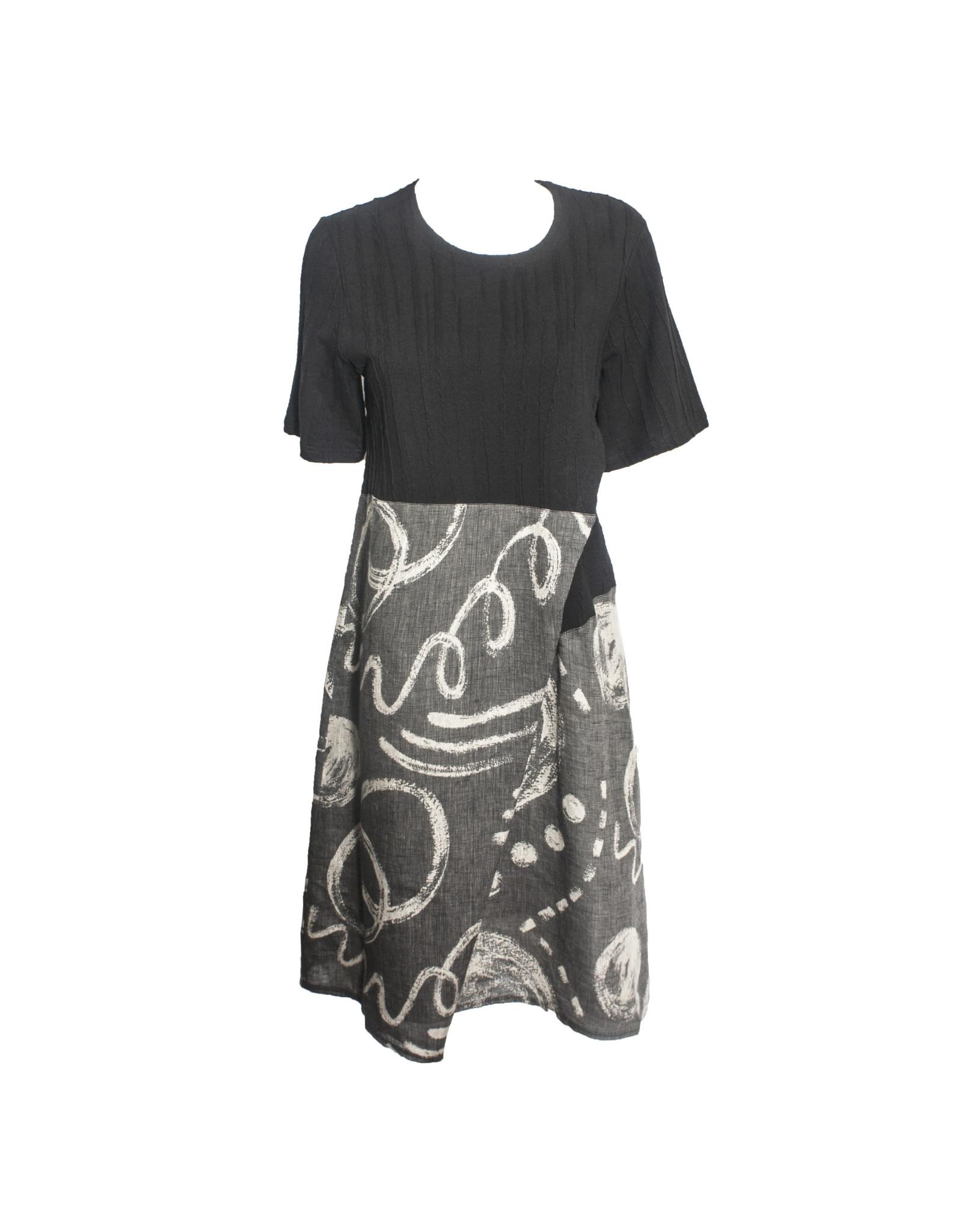 Yoshi Yoshi Yoshi Yoshi Wrap Dress - Black