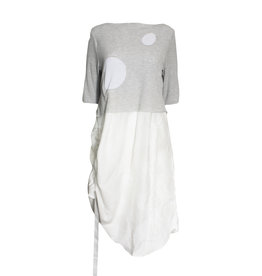 Yoshi Yoshi Yoshi Yoshi Dot Dress - Grey/White