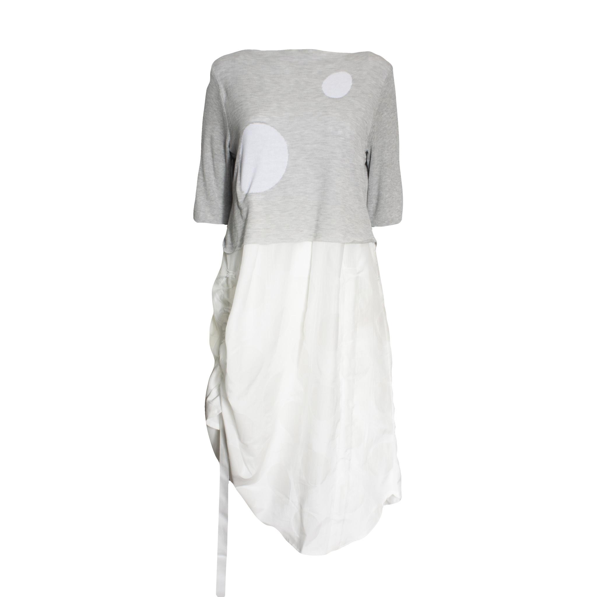 Yoshi Yoshi Yoshi Yoshi Dot Dress - Grey/White