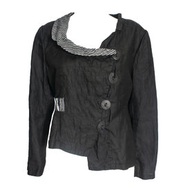 Mara Gibbucci Mara Gibbucci Abstract Stitch Jacket - Black