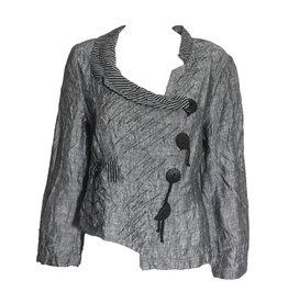 Mara Gibbucci Mara Gibbucci Abstract Stitch Jacket - Grey
