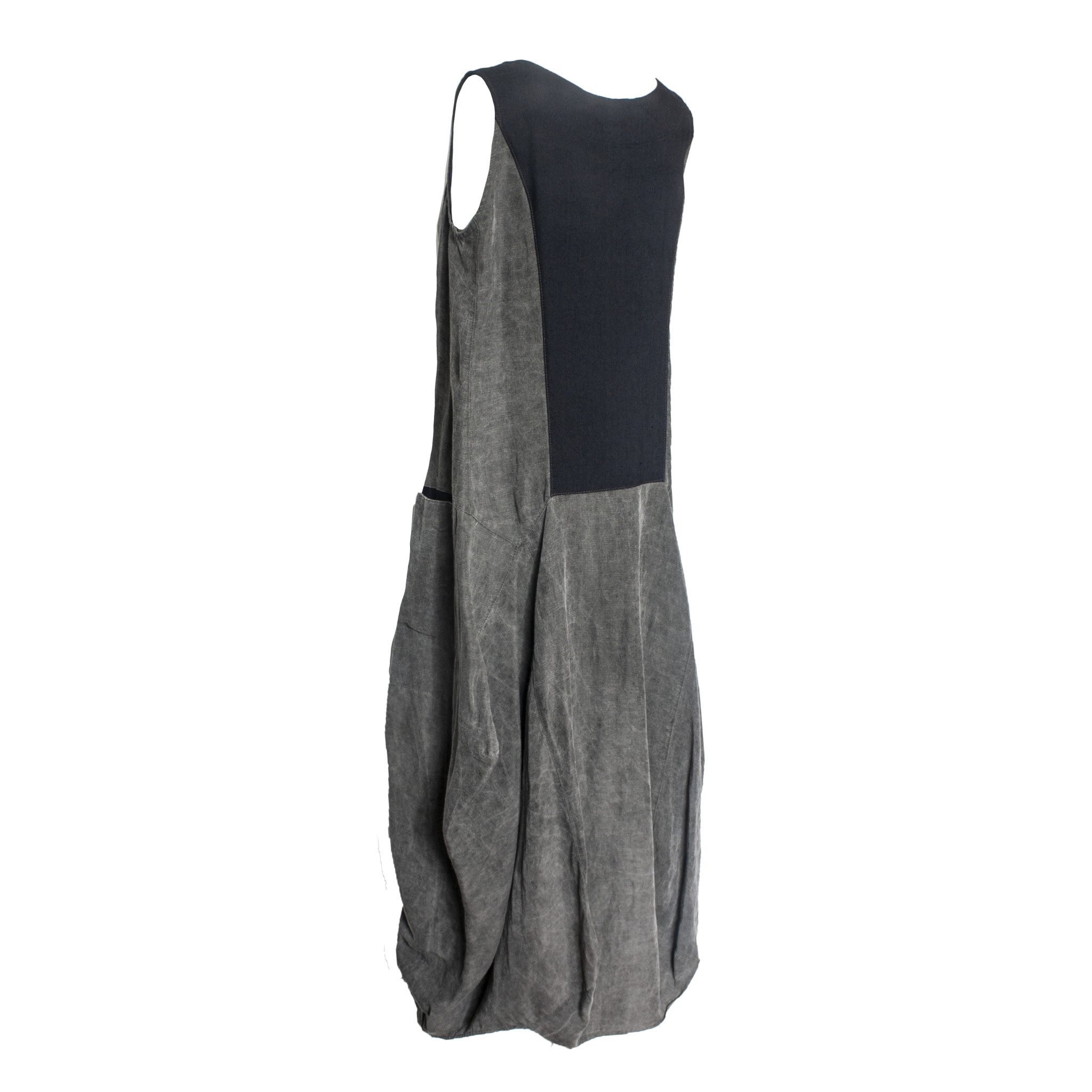 Mara Gibbucci Mara Gibbucci Pocket Dress - Ash/Black