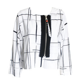 Crea Concept Crea Concept Zip Grid Jacket - White