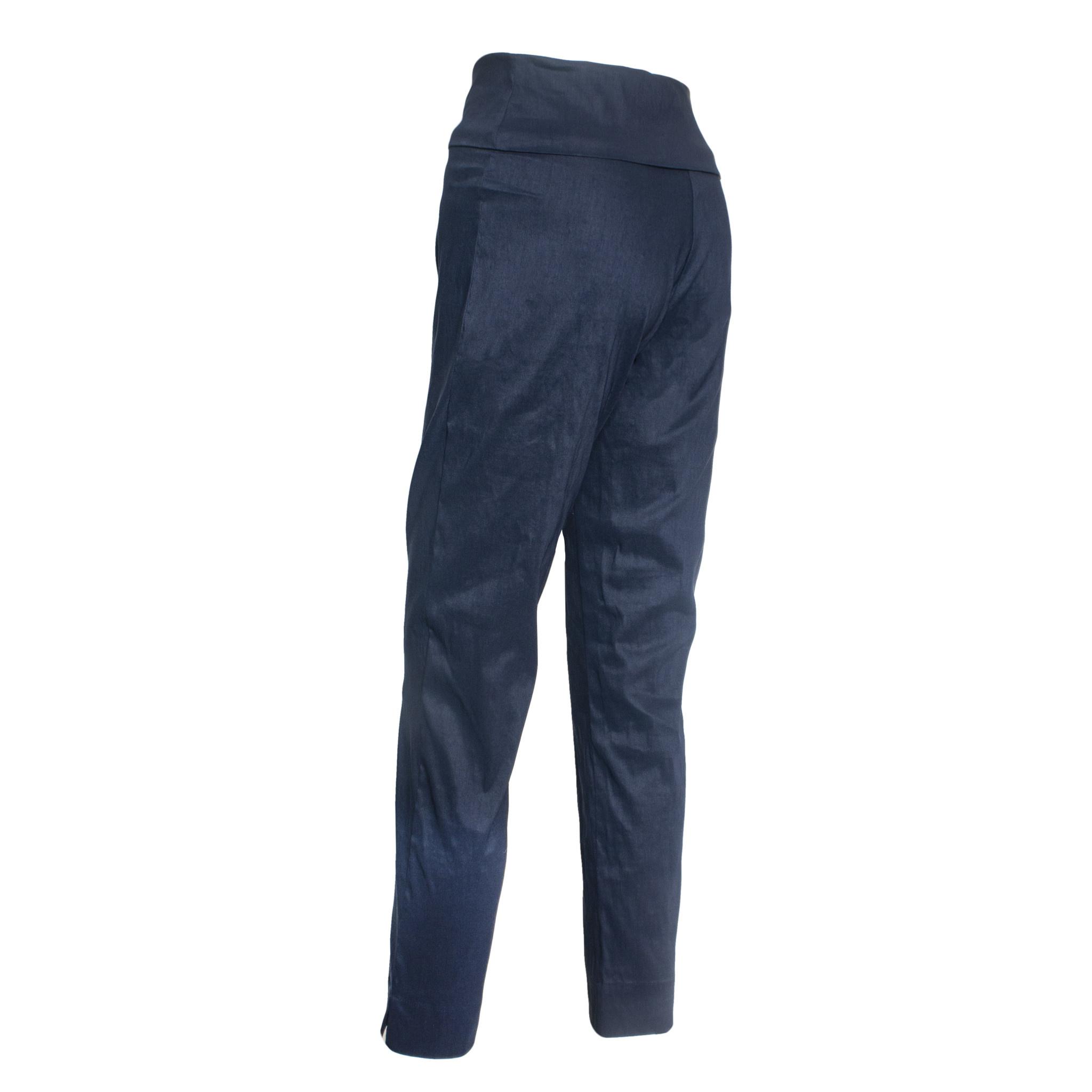 Crea Concept Concept Crepe Foldover Pants - Navy