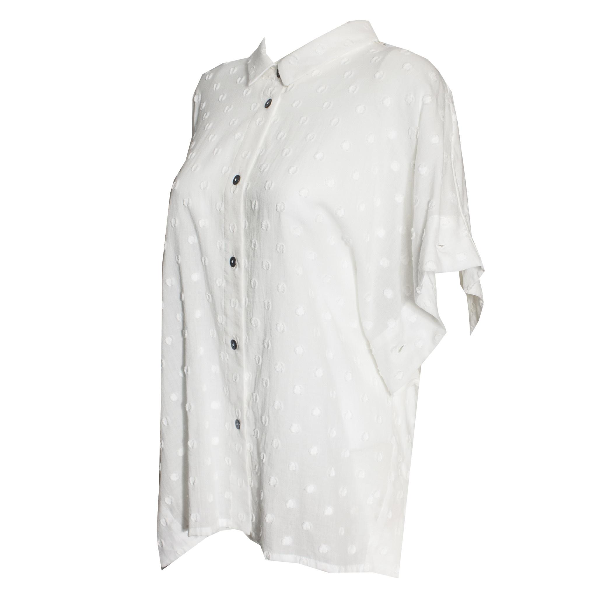 Crea Concept Crea Concept Poncho Shirt - Cream