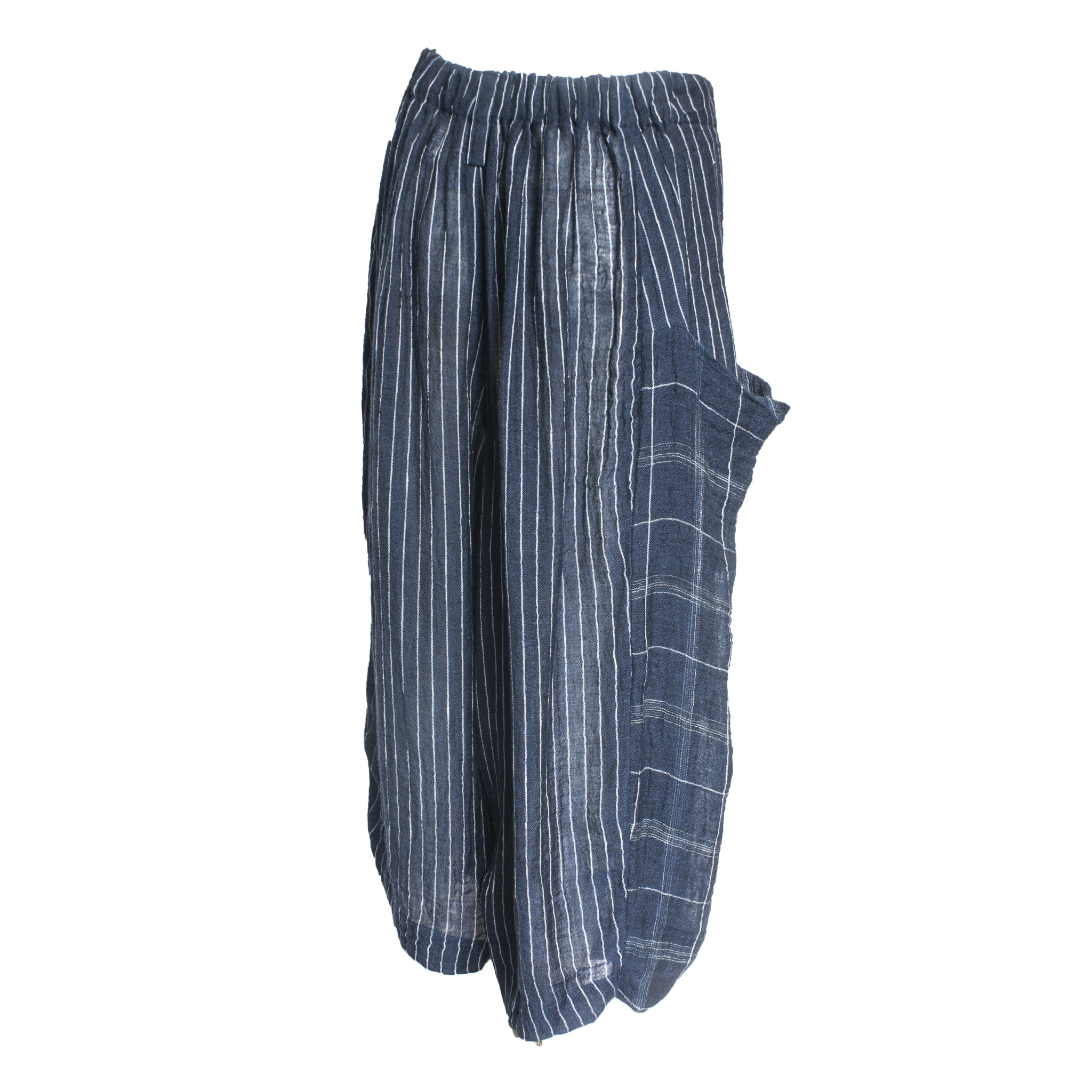 Crea Concept Crea Concept Crop Panel Pants - Navy Plaid