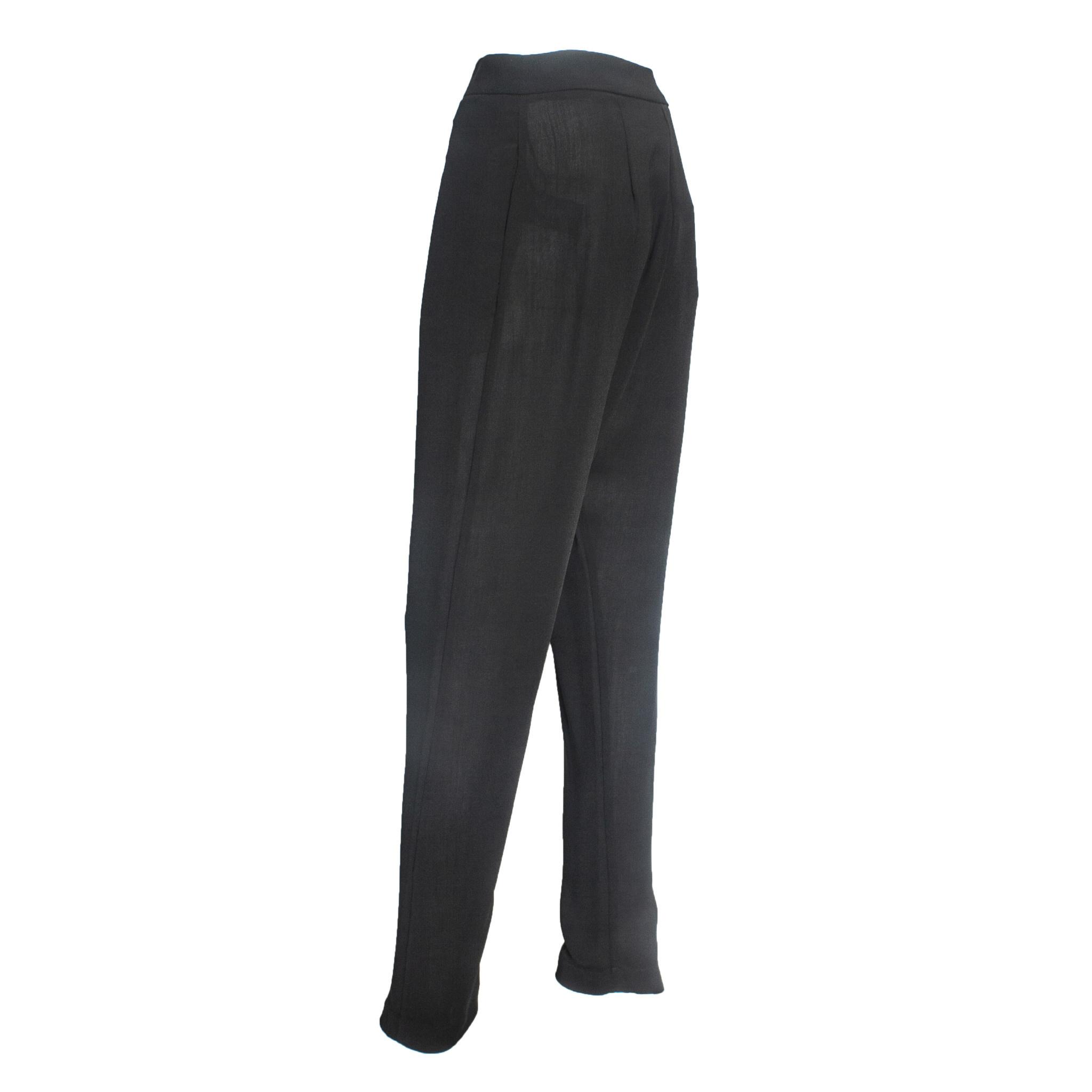 Crea Concept Crea Concept Wrap Front Pants - Black