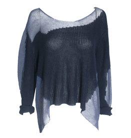 Crea Concept Crea Concept V-Neck Pullover - Navy/Blue