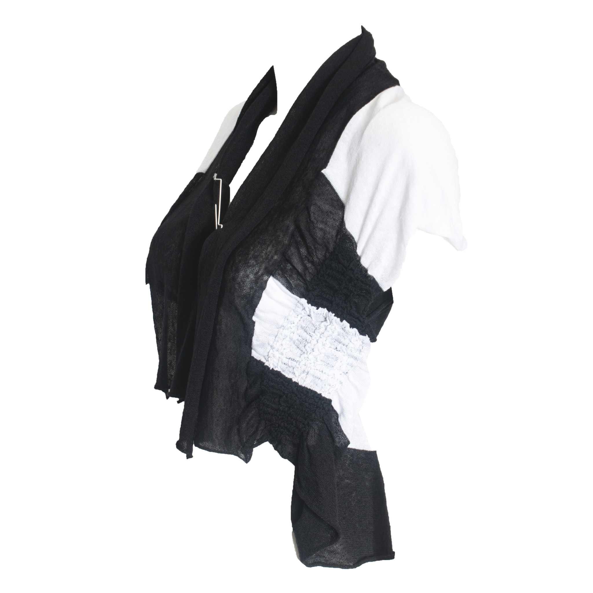 Crea Concept Crea Concept Side Scrunch Vest - Black/White