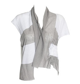 Crea Concept Crea Concept Side Scrunch Vest - Grey/White