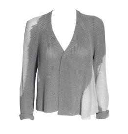 Crea Concept Crea Concept Crop Cardigan - Grey/Silver
