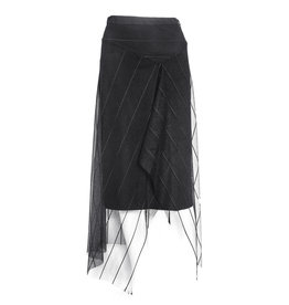 Xenia Xenia Adal Stripe Skirt - Black