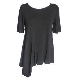 Xenia Xenia Kepi Short Sleeve Top - Black