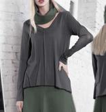 Xenia Xenia Grey Abut Knitted Shirt