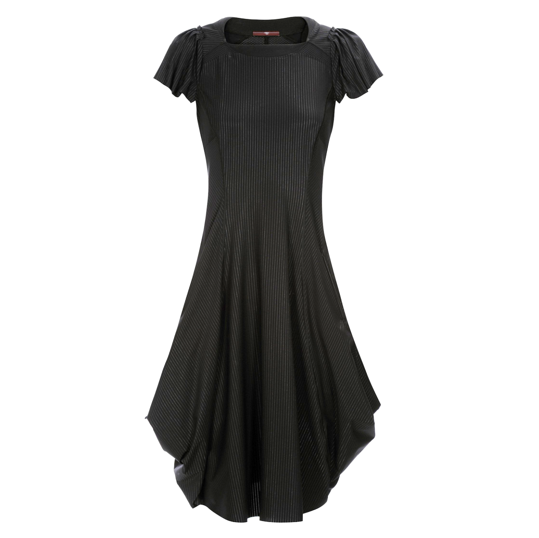HIGH High Jessy Pinstripe Dress - Black