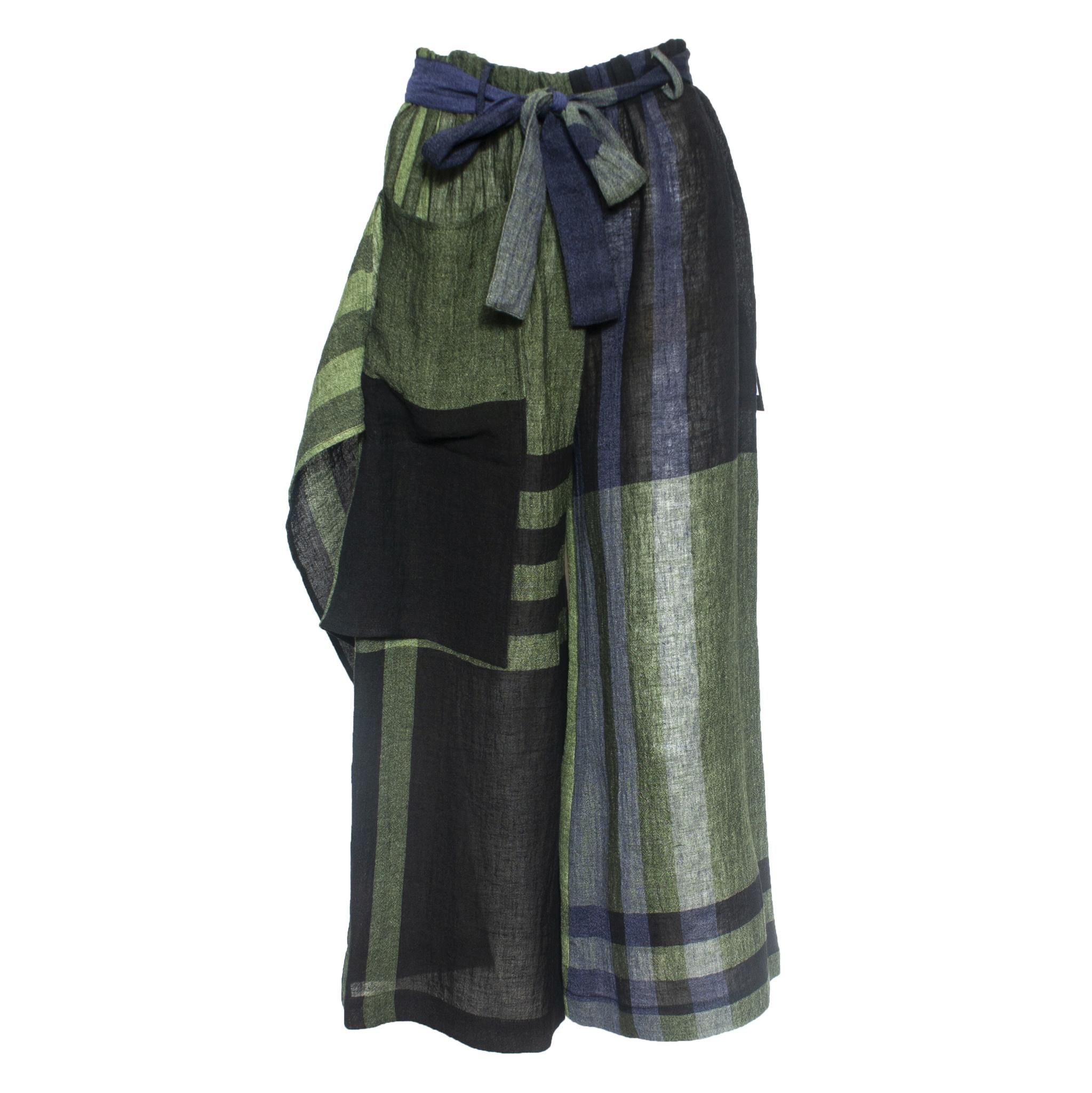 Kedziorek Kedziorek Block Plaid Pocket Pants - Green/Navy