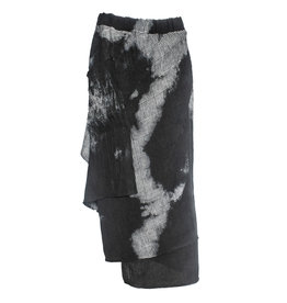 Kedziorek Kedziorek Plaid Dye Drape Skirt - Grey/Black