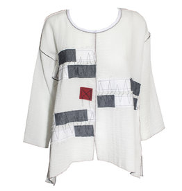 Xiao Xiao Autumn Patchwork Tee - White