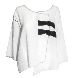 Xiao Xiao Carly Bow Top - White