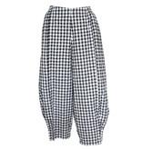 Xiao Xiao Celine Check Pants - Black