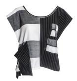 Xiao Xiao Niki Stripe Vest - Black/Grey