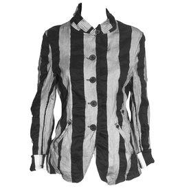 Studio Rundholz Studio Rundholz Stripe Print Jacket - Grey/Black