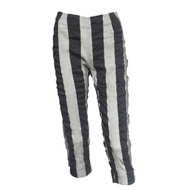 Studio Rundholz Studio Rundholz Stripe Print Pants - Grey/Black