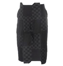 Studio Rundholz Studio Rundholz Checkered Patch Print Skirt - Black