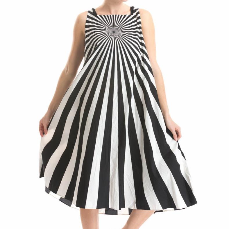 Studio Rundholz Studio Rundholz Optical Print Dress - Black/White