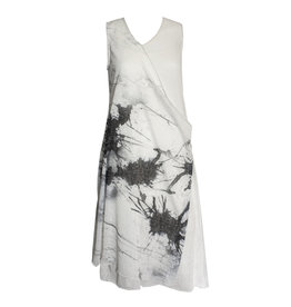 Ingrid Munt Ingrid Munt Canvas Print Sleeveless Dress - White