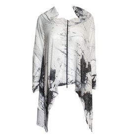 Ingrid Munt Ingrid Munt Canvas Print Zip Cardigan - White