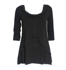 Ingrid Munt Ingrid Munt Zip Layer Top - Black