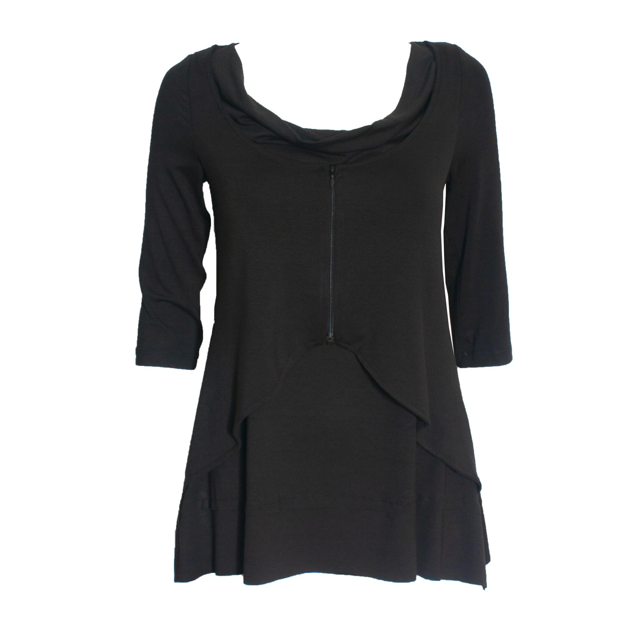 Ingrid Munt Ingrid Munt Zip Layer Top - Black