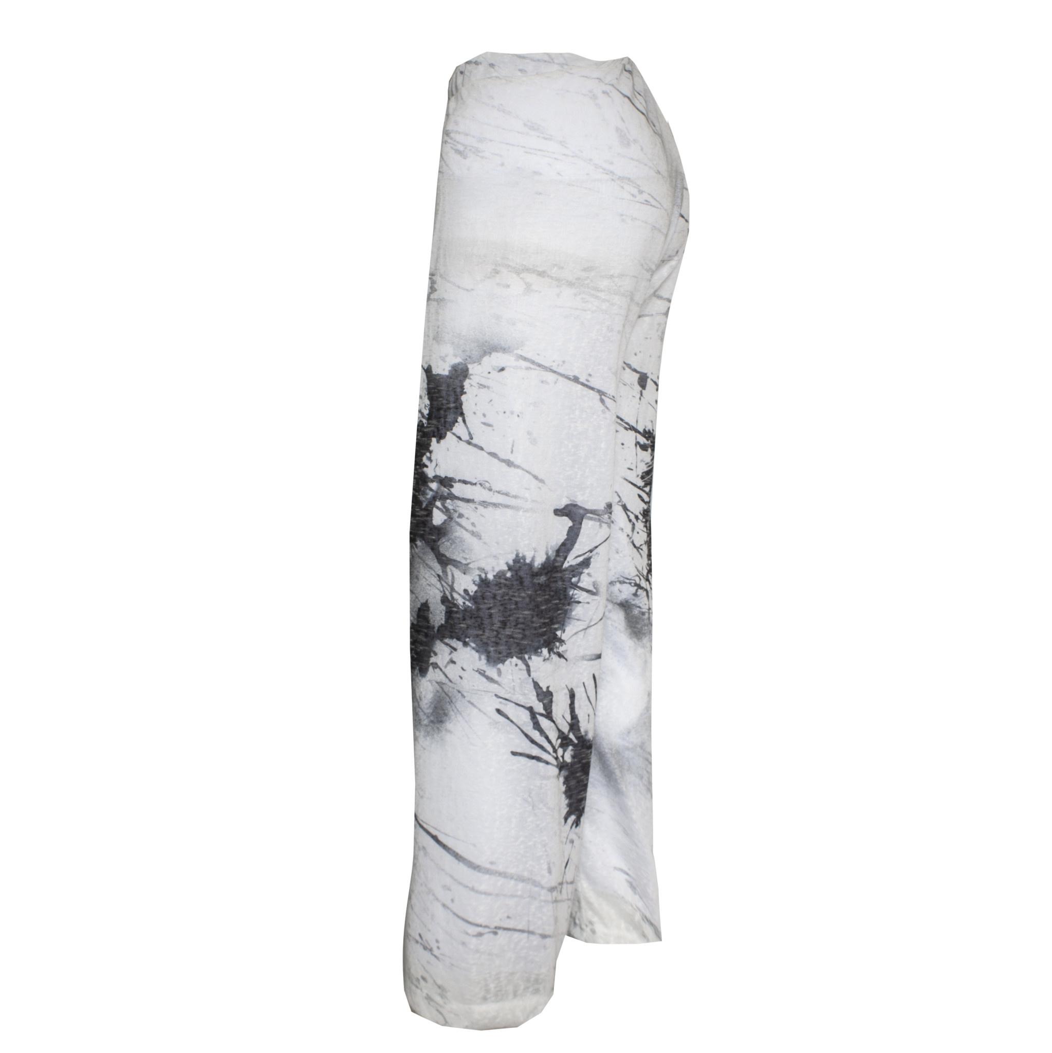 Ingrid Munt Ingrid Munt Canvas Print Pants - White