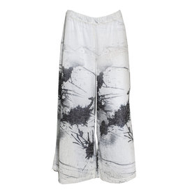 Ingrid Munt Ingrid Munt Canvas Print Crop Pants - White