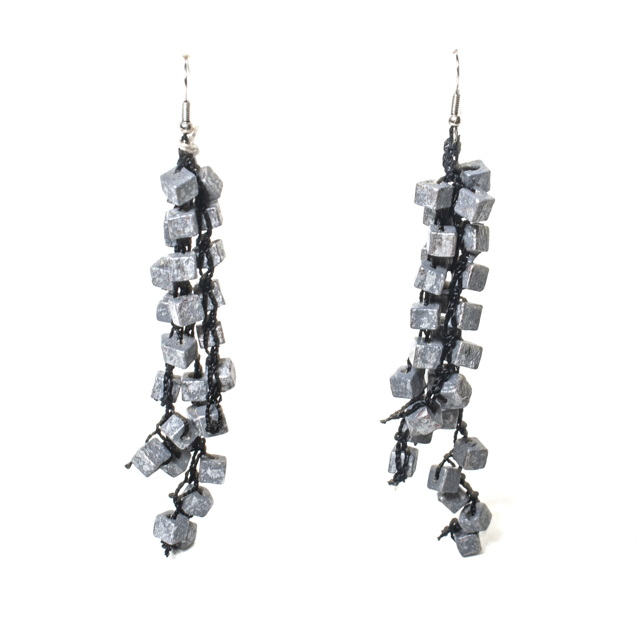 Jianhui Jianhui Crocheted Crystal Earrings