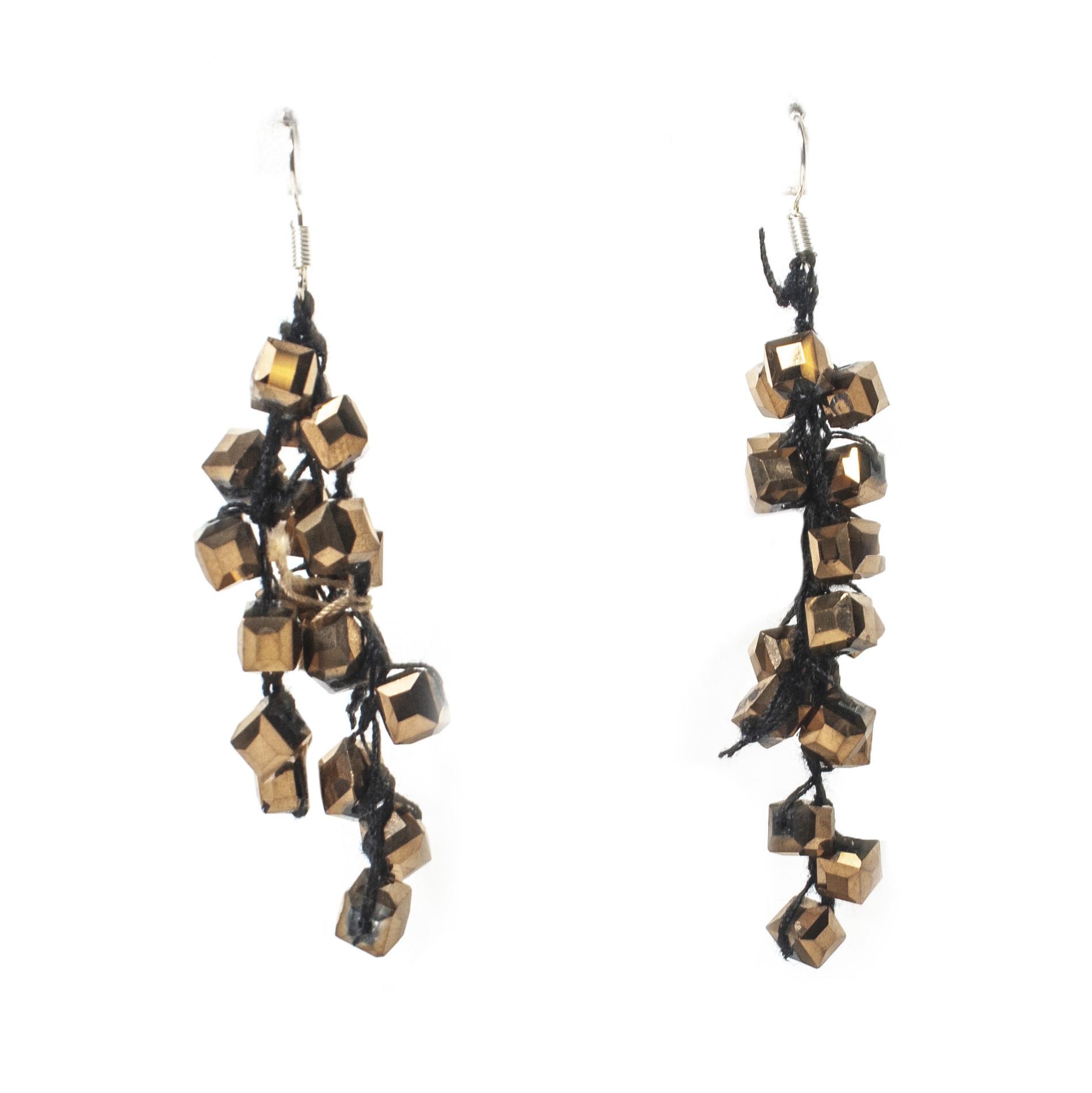 Jianhui Jianhui Crocheted Crystal Earrings
