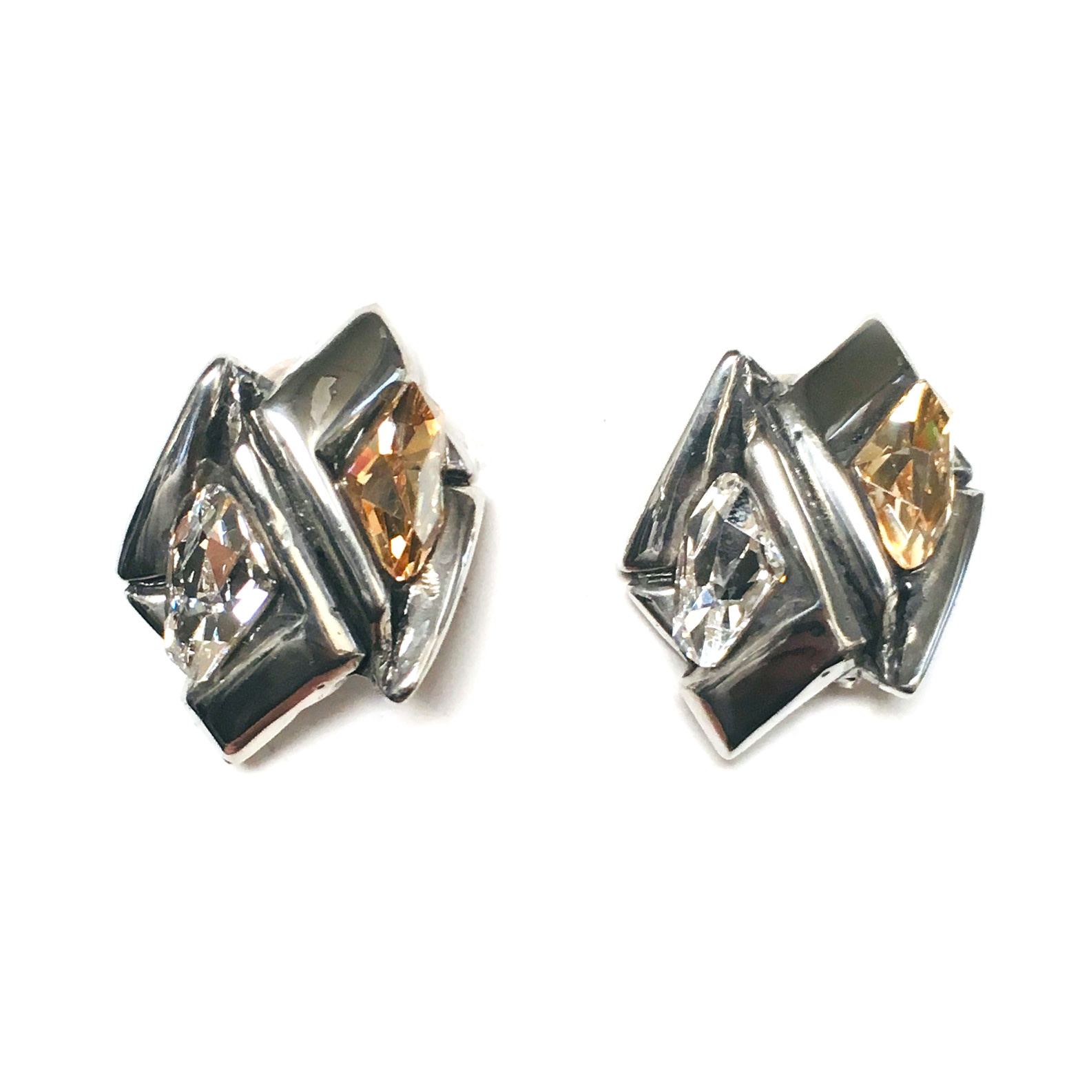 Fahrenheit Fahrenheit Zig-zag Earrings