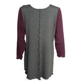 Sondra Sardis Sondra Sardis Block Print Tunic - Grey/Burgundy
