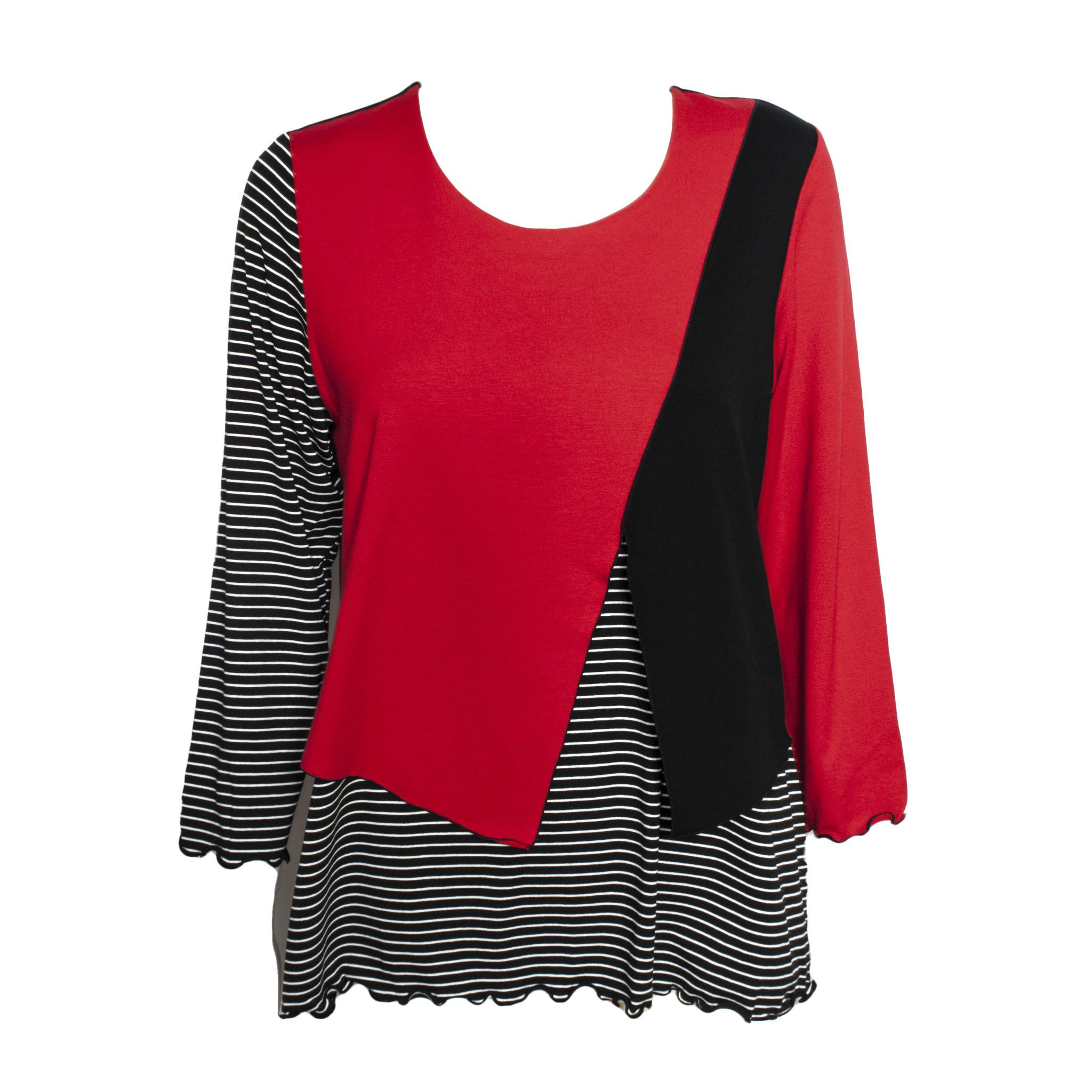 Sondra Sardis Sondra Sardis Crossover Tee - Red/Black