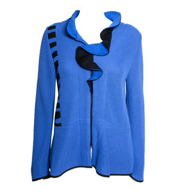Jaskar Jaskar Ruffle Collar Jacket - Royal Blue