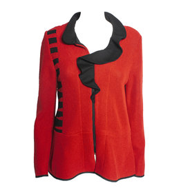 Jaskar Jaskar Ruffle Collar Jacket - Red