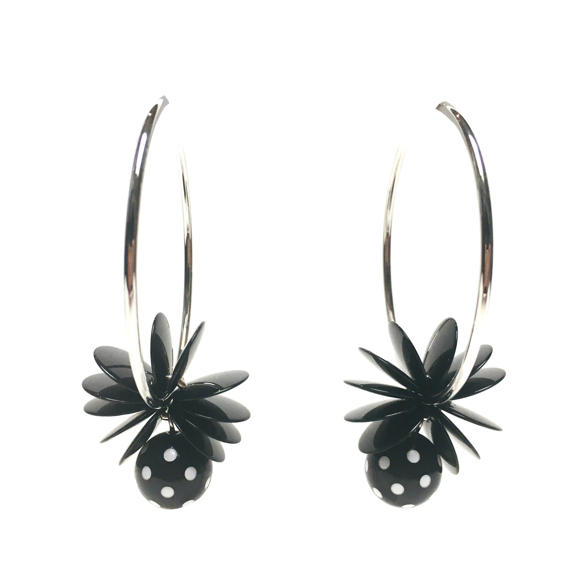 Antura Antura Hoop Dot Earrings
