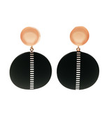 Antura Antura Circle Drop Earrings
