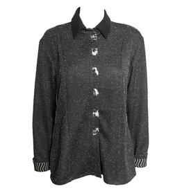 Deborah Cross Deborah Cross Fitted Speckled Shirt - Black
